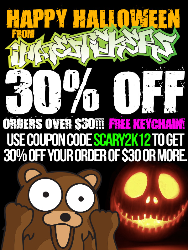 ihatestickers.com halloween sale