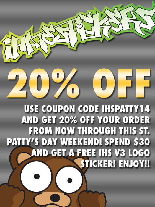 IHS St. Patty's Day Sale 2014