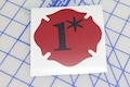 One Asterisk Red Badge Sticker