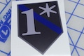 One Asterisk Blue line Bagdge Sticker