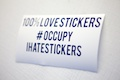 100% Love Stickers Occupy ihatestickers Sticker