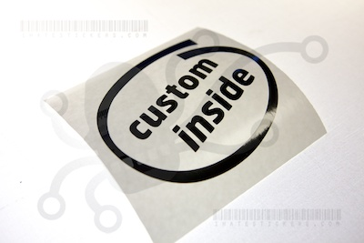"Custom ""Intel Inside"" Sticker"