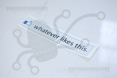 Custom Facebook Whatever Likes This Printed