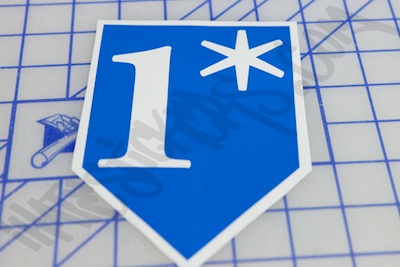 One Asterisk Die Cut Sticker