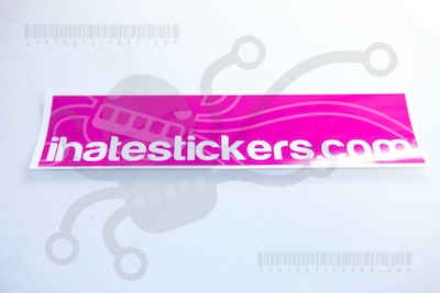 Ihatestickers.com Magenta Rectangle