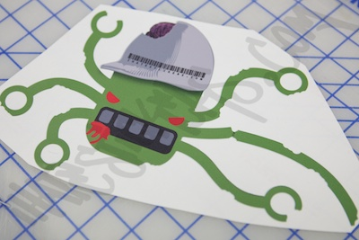 Zombie Hex Printed Sticker