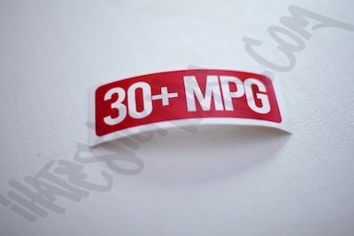 30+ MPG Sticker