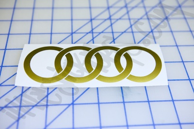 Audi Rings Logo Sticker