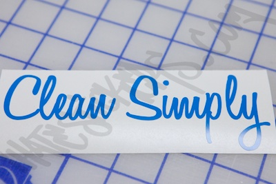 Clean Simply Sticker