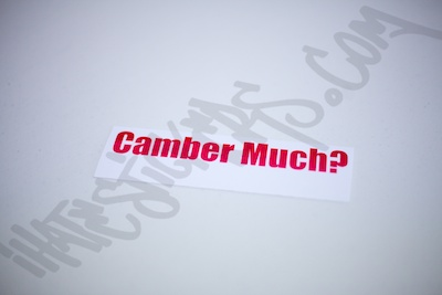 Camber Much Sticker