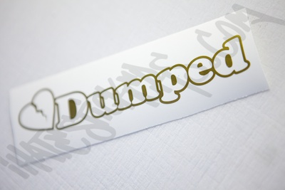 Dumped Heart Diecut Sticker