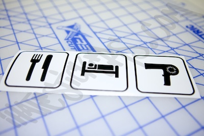 Eat Sleep Blown Die Cut Sticker