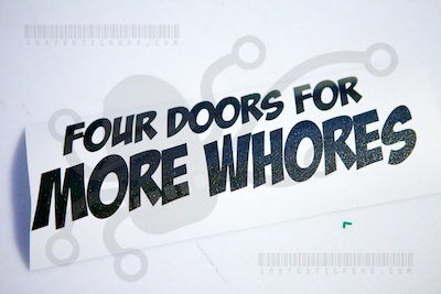 Four Doors For More Whores