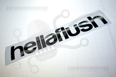 Hella Flush sticker