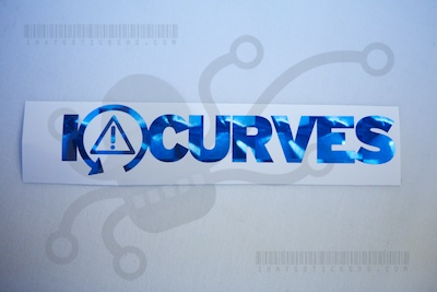 I Heart Curves DSC Sticker