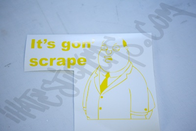 Ollie Williams Its Gon Scrape Sticker