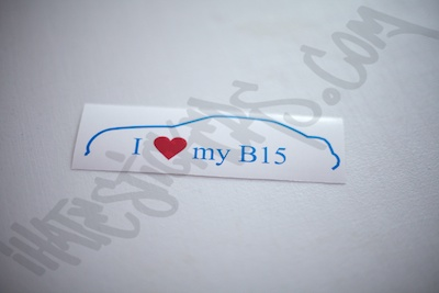 I Heart My B15 Outline Specialty Sticker