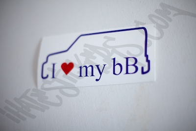 I Heart My BB Outline Specialty Sticker