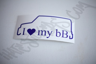 I Heart My BB Outline Sticker
