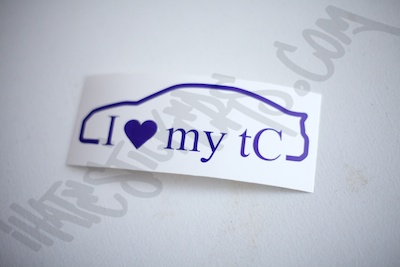 I Heart My tC Outline Sticker