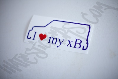 I Heart My xB Outline Specialty Sticker