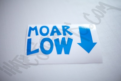 MOAR Low Sticker