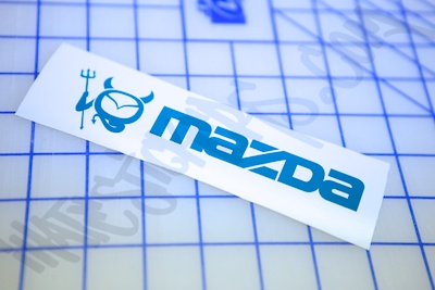 Mazda Devil Sticker