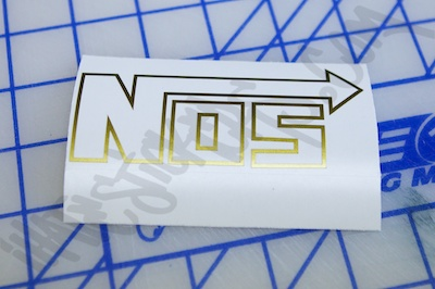 NOS Logo Outline Sticker