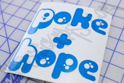 Poke and Hope Sticker
