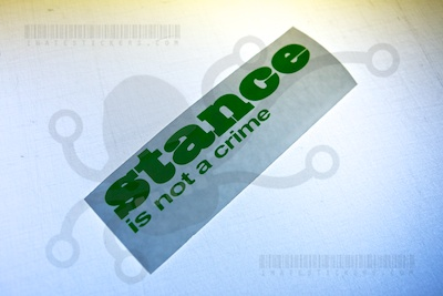 Stance is not a crime