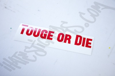 Touge Or Die Sticker