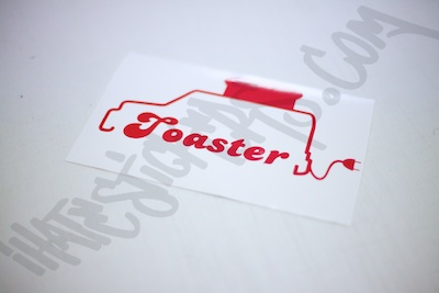 Toaster Sticker