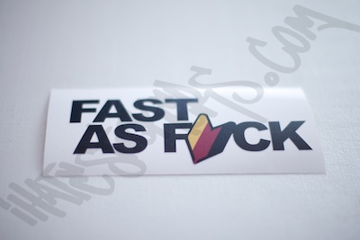 Fast As Fuck DTM Sticker