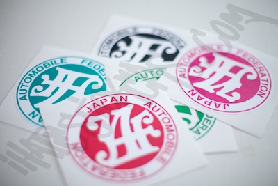 Japan Auto Federation Printed Sticker