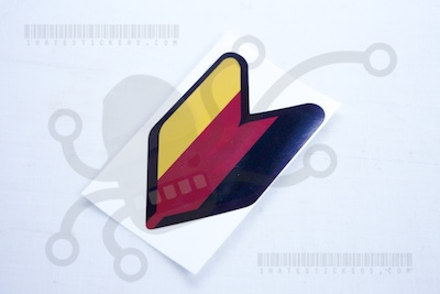 German New Driver Sticker