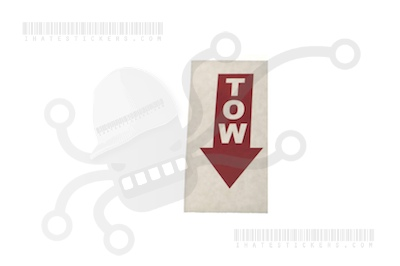 Tow Down Sticker