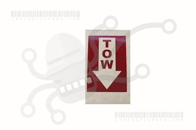 Tow Inverted Sticker