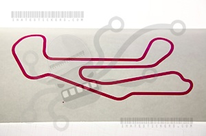 Barber Motorsports Park Track Map Sticker