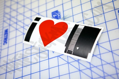 I Heart NES Cartridge Specialty Sticker