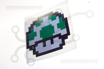 1-Up Mushroom Sticker