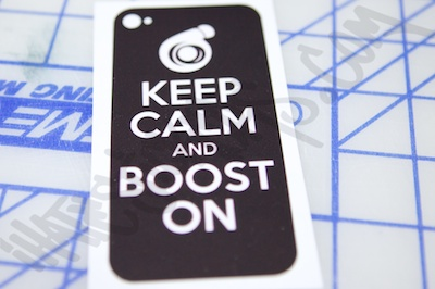Keep Clam And Boost On Phone Wrap