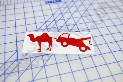 Camel Tow Sticker