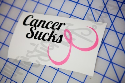Cancer Sucks Specialty Sticker
