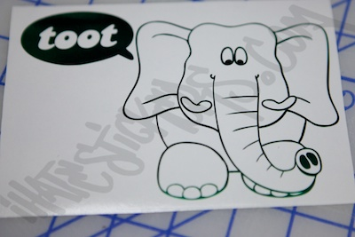 The Elephant Goes Toot Sticker