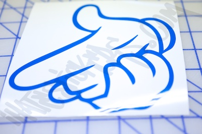 Finger Gun Die Cut Sticker