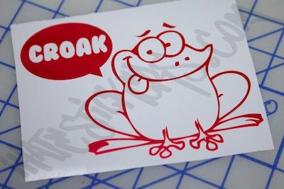 The Frog Goes Croak Sticker