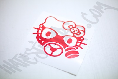 Hello Kitty Gasmask Sticker