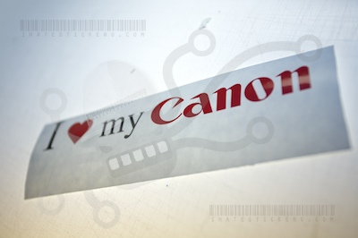 I heart my Canon Specialty Sticker
