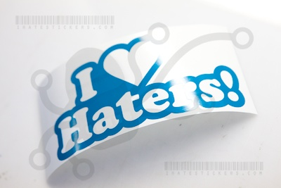 I Heart Haters V2 Sticker