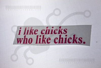 I like chicks who like chicks